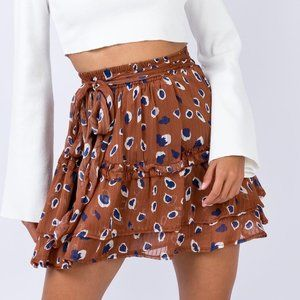 Princess Polly Worton Mini Skirt Brown US Size 4